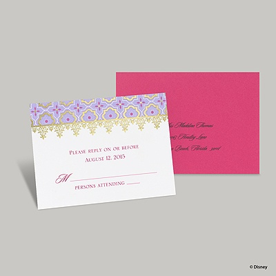 Exotic Romance Response Card and Envelope - Jasmine