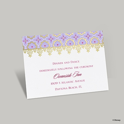Exotic Romance Reception Card - Jasmine