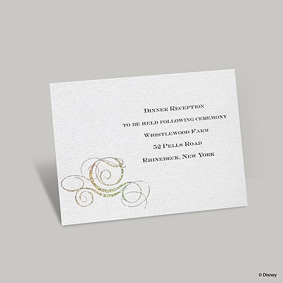 Fairy Tale Carriage Reception Card