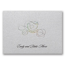 Fairy Tale Carriage Note Card and Envelope