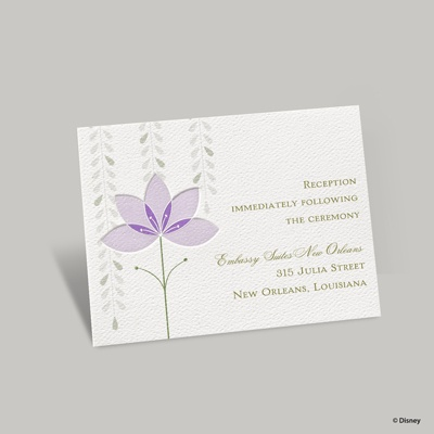 Deco Lilies Reception Card - Tiana