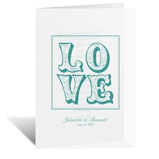 Love Flourishes - Vellum Invitation