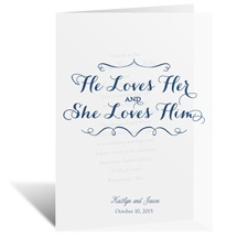 He Loves Her - Vellum Invitation