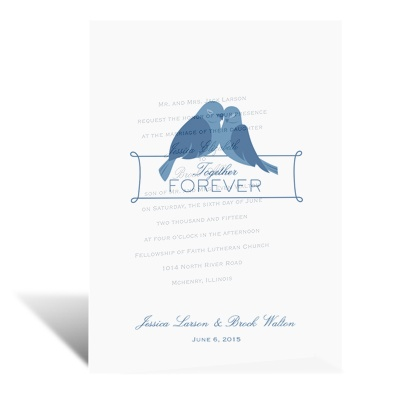 Lovebirds Forever - Vellum Invitation