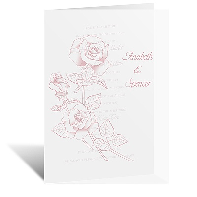 Rosy Reverie - Vellum Invitation