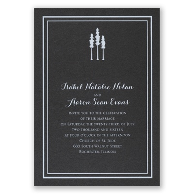 Choose Your Design - Black Shimmer - Foil Invitation