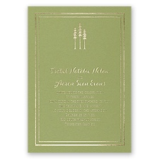 Choose Your Design - Olive - Foil Invitation