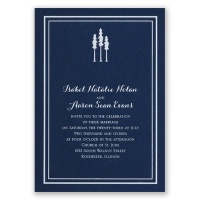 Choose Your Design - Navy - Foil Invitation