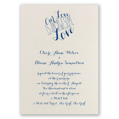 An Awesome Love - Ecru Shimmer - Foil Invitation
