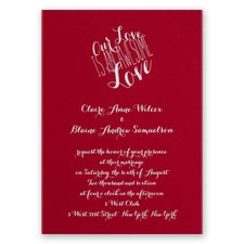 An Awesome Love - Red - Foil Invitation