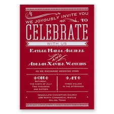 Big News - Red - Foil Invitation