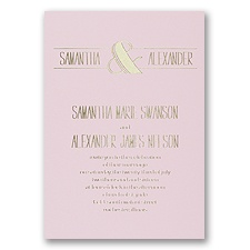 Modern Flair - Pink - Foil Invitation