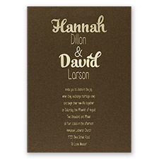 Kinda Quirky - Brown Shimmer - Foil Invitation