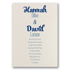 Kinda Quirky - Ecru Shimmer - Foil Invitation