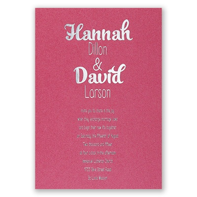 Kinda Quirky - Fuchsia Shimmer - Foil Invitation