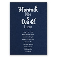 Kinda Quirky - Navy - Foil Invitation