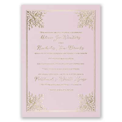 Forever Flourish - Pink - Foil Invitation