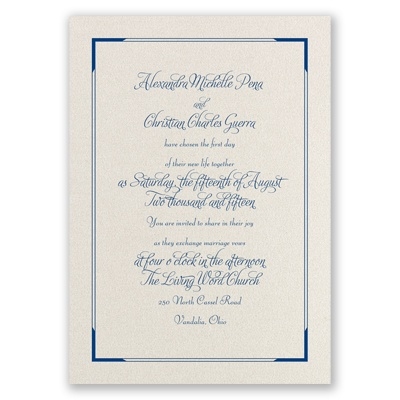 Looking Sharp - Ecru Shimmer - Foil Invitation