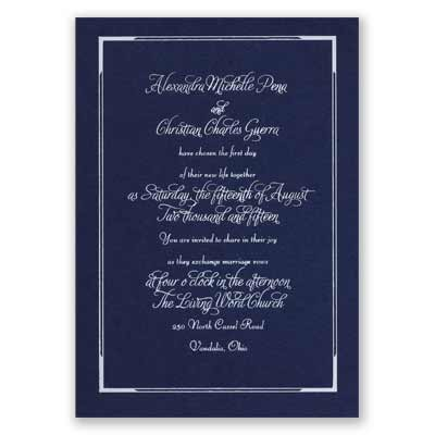 Looking Sharp - Navy - Foil Invitation