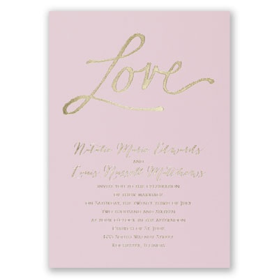 Pure Love - Pink - Foil Invitation