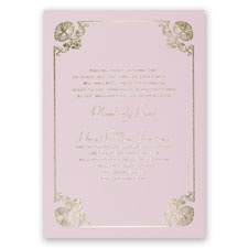 Art Deco Delight - Pink - Foil Invitation