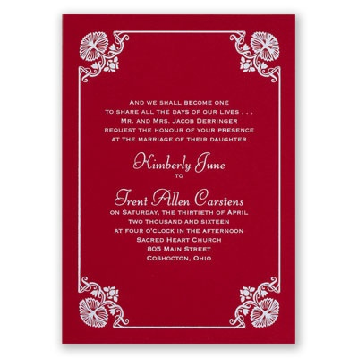 Art Deco Delight - Red - Foil Invitation