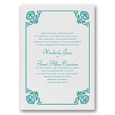 Art Deco Delight - White Shimmer - Foil Invitation