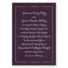 Dots of Love - Eggplant - Foil Invitation