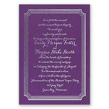 Impressive Borders - Purple Shimmer - Foil Invitation