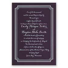 Impressive Borders - Eggplant - Foil Invitation