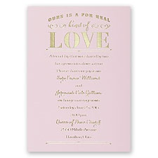 Real Love - Pink - Foil Invitation