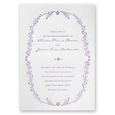 Country Vines - White - Featherpress Invitation