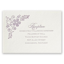 Feathered Floral - Ecru - Featherpress Reception Card