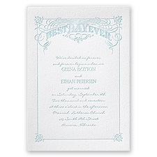 Big Day - White - Featherpress Invitation