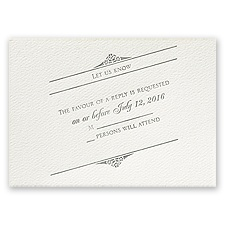 Distinct Impression - Ecru - Featherpress Response Card