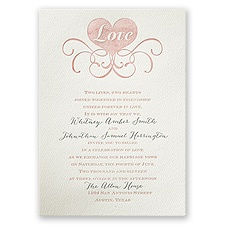 Lifted by Love - Ecru - Featherpress Invitation