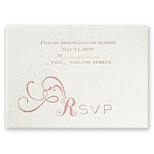 Lifted by Love - Ecru - Featherpress Response Card