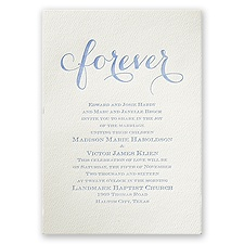 Fancy Forever - Ecru - Featherpress Invitation