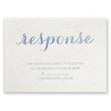 Fancy Forever - Ecru - Featherpress Response Card