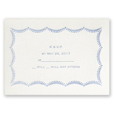 Scalloped Lace - Ecru - Featherpress Response Card