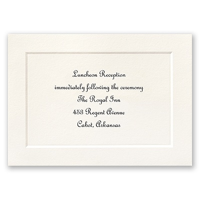 Tradition Triumphs - Reception Card