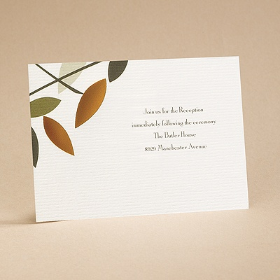 Love Birds - Reception Card