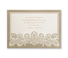 Feather Filigree - Reception Card