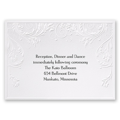 Shaded Grey - Reception Card