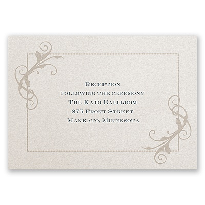 Vintage Shine - Reception Card