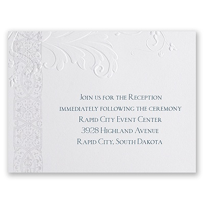 Layered Filigree - Reception Card