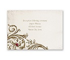 Sepia Filigree - Reception Card