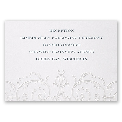 Glamorous Sparkle - Reception Card