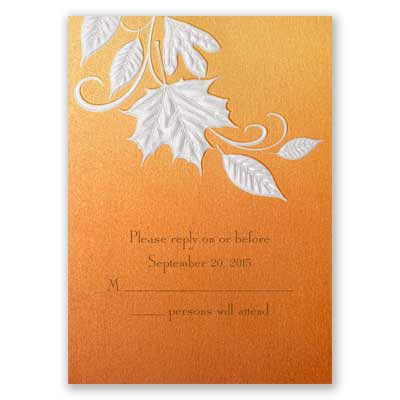 Autumn Radiance - Response Card and Envelope