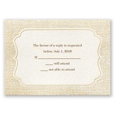 Burlap Sensation - Response Card and Envelope
